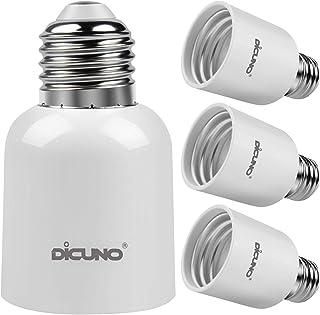 DiCUNO E27 a E40 Socket Converter Adaptador de enchufe de 4 paquetes Adaptador de base de lámpara de alta calidad para bombillas LED y bombillas incandescentes y bombillas CFL