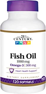 21st Century, Fish Oil, 1,000 mg, 120 Softgels