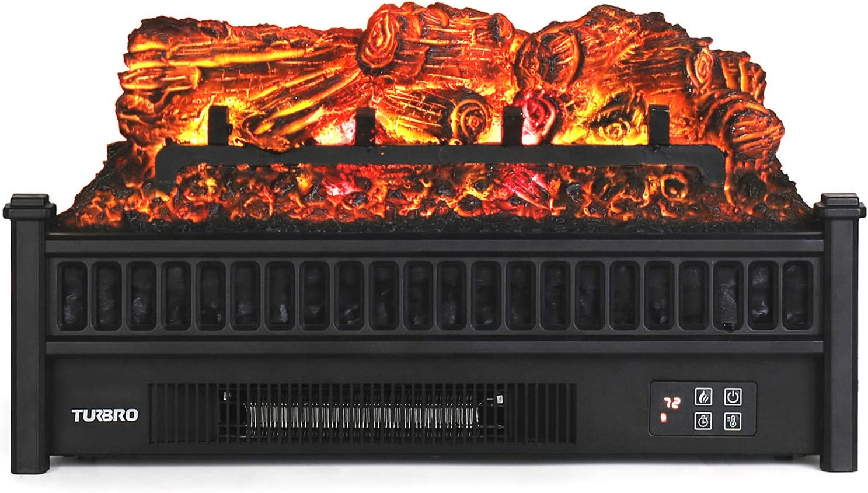 TURBRO Eternal Flame Save money EF23-PB Electric Logs Fireplace Remote 23