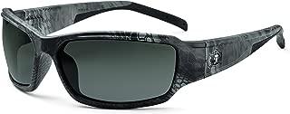 Ergodyne Skullerz Thor Polarized Safety Sunglasses - Kryptek Typhon Black Camo Frame, Polarized Smoke Lens