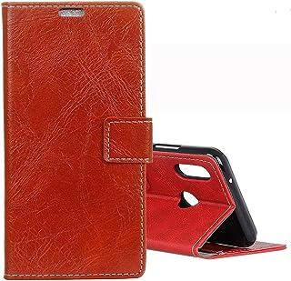 XSB Xiaomi Redmi Note 7 / Note 7 Pro/Note 7S用レトロクレイジーホーステクスチャ水平フリップレザーケース、ホルダー付き&カードスロット&フォトフレーム (色 : Red)