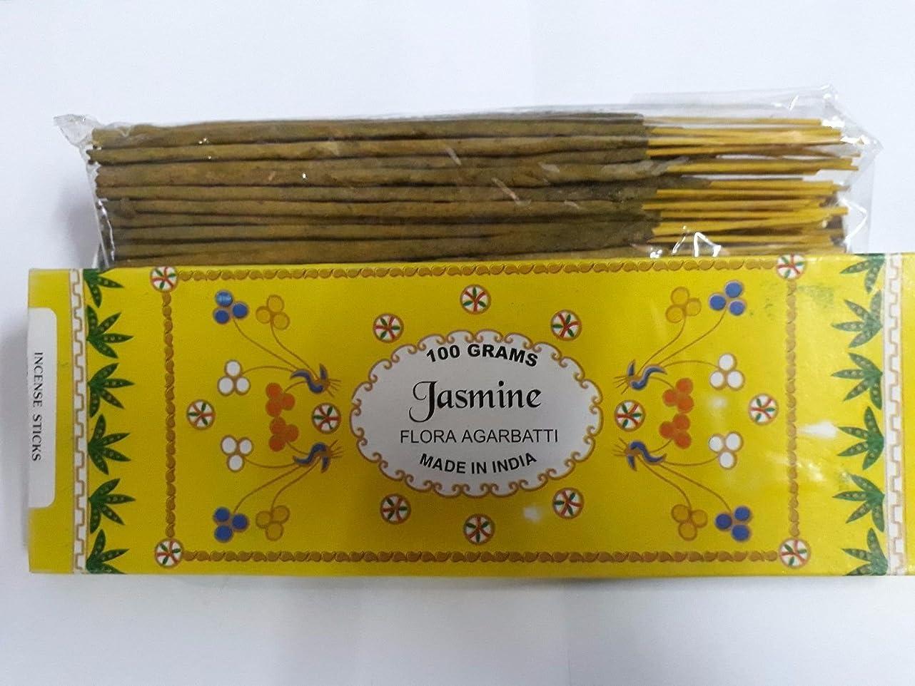 フィルタ満員脚Jasmine/ジャスミン Agarbatti Incense Sticks 線香 100 grams Flora Incense フローラの香 Agarbatti