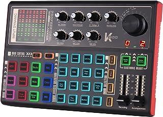 SK300 بطاقة صوت مباشرة خارجية لمغير الصوت خلاط صوت مدمج بطارية قابلة لإعادة الشحن مؤثرات صوتية متعددة للبث المباشر وتسجيل ...