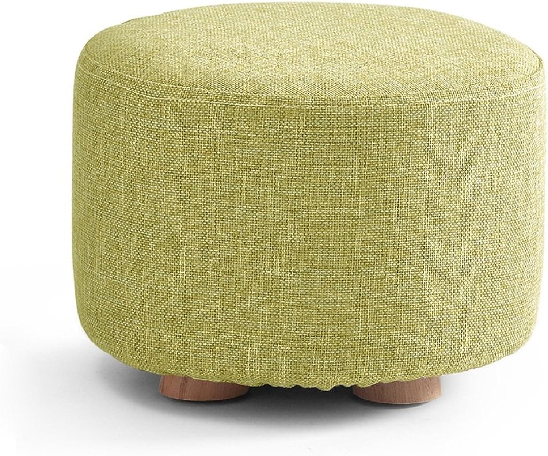 Solid Wood Stool Fashion Creative Sofa Stool Home Stool Fabric Stool Washable Stool Makeup Stool 0522A (color   D)
