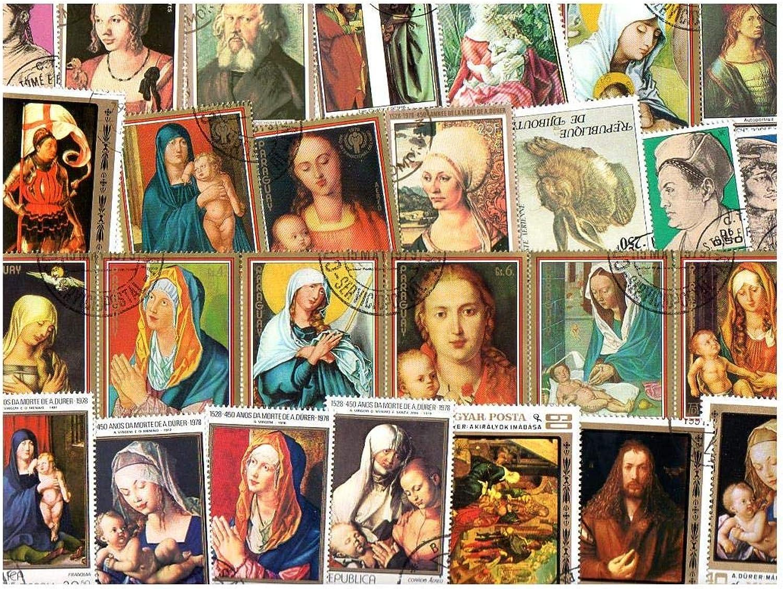 Pghstamps Durer Peintre et Peintures 150 Collection de Timbres différents pour collectionneurs