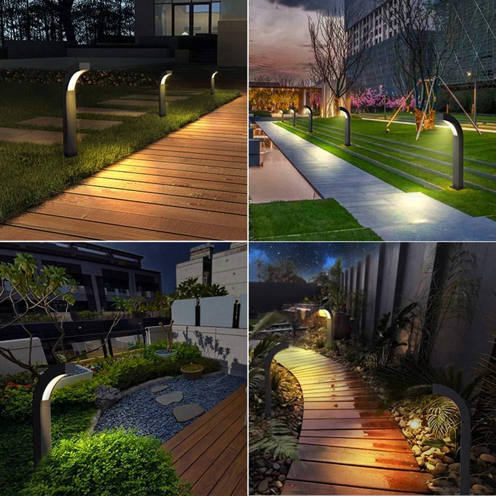 LJIANW-Farolas Jardin Exterior Moderno Al Aire Libre IP44 9W Luz ...