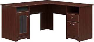 Bush Furniture Cabot L Shaped Computer Desk in Harvest...