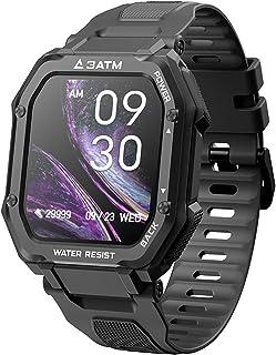 Reloj inteligente deportivo, reloj inteligente digital para deportes al aire libre Samxu, podómetro para hombres, contador de calorías , 20 modos deportivos, resistencia al agua de 30 metros, negro
