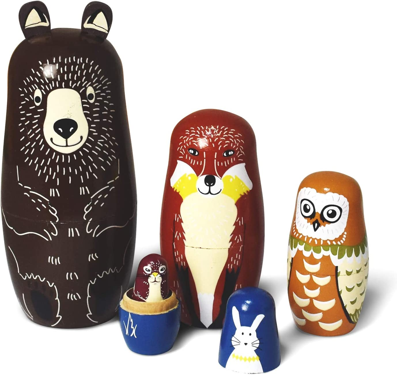 GRPSKCOS Russian Nesting Dolls Toy Toddler depot supreme Wooden for Bear Kids