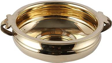 Aatm Brass Plain Urli Utensil Best for Home & Office Decoration & Gift Purpose Handicraft (8 Inch)