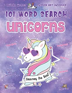 Animal Word Search Book for Girls Ages 4-8: 101 Puzzle Pages. Custom Art Interior. Cute fun gift! SUPER KIDZ. Purple Glitt...