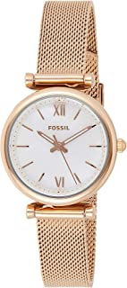 Fossil Womens Quartz Watch, Analog Display and Stainless Steel Strap ES4433