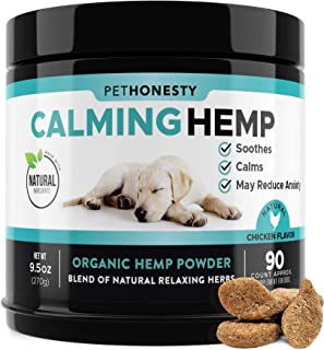 PetHonesty Hemp Calming Treats for Dogs - All-Natural Soothing Snacks with Hemp + Valerian Root, Stress & Dog Anxiety Reli...
