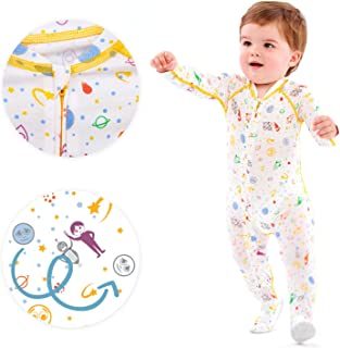 Boy's Eczema Sleep Suit for Babies - Itch Relief for Baby Eczema - These Eczema Pajamas for Babies can Also be Used as a W...