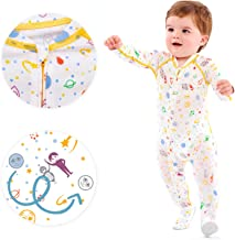 Boy's Eczema Sleep Suit for Babies - Itch Relief for Baby Eczema - These Eczema Pajamas for Babies can Also be Used as a Wet Wrap Suit (0-6M (15-18LBS / 27