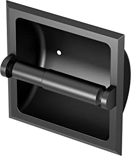 Gatco Recessed Toilet Paper Holder, Matte Black