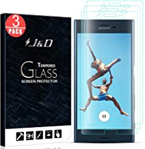 J&D Compatible for 3-Pack Xperia XZ/Xperia XZs Glass Screen Protector, [Tempered Glass] [Not Full Coverage] HD Clear Ballistic Glass Screen Protector for Sony Xperia XZ Screen Protector