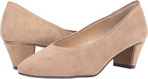 Taupe Suede/Patent
