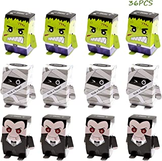 ALIWO Halloween Candy Boxes, Trick or Treat Favor Gift Box, Decorative Treats Paper Boxes Gift Bag for Halloween Party Decoration Supplies Favors,to Kids(3 Designs, 36Pcs)