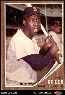 1962 Topps # 153 NRM Pumpsie Green Boston Red Sox (Baseball Card) (Normal Tint) Dean's Cards 4 - VG/EX Red Sox