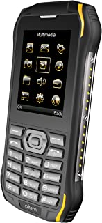Plum Ram 6 - Rugged Unlocked Cell Phone GSM Shock Water Proof IP 68 Certified Military Grade Camera Flash Light FM Radio Bluetooth SD Card Slot Dual Sim - Black/Yellow