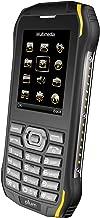 Plum Ram 6 - Rugged Unlocked Cell Phone GSM Shock Water Proof IP 68 Certified Military Grade Camera Flash Light FM Radio Bluetooth SD Card Slot Dual Sim - Black/Yellow