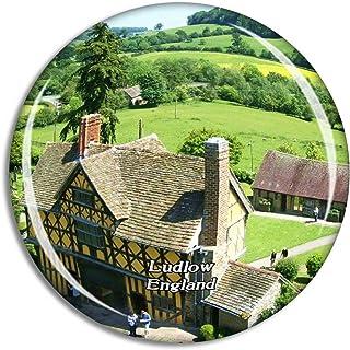 Ludlow Stokesay Castle UK England Fridge Magnet Travel Gift Souvenir Collection 3D Crystal Glass Sticker