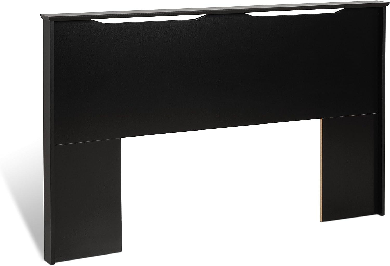 Prepac Black Coal Harbor Full Queen Flat Panel Headboard