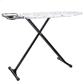 Amazon Basics Planche à repasser avec repose-fer en forme de H, Taille moyenne, 122 x 38 cm - Noir