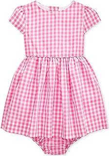 Ralph Lauren Baby Girls Gingham Taffeta Dress & Bloomer Set (24 Months)