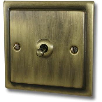2 Gang 1 Ou 2 Way Toggle interrupteur de lumière G/&h FV282 Plaque Plane