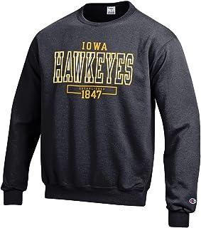 قميص رياضي رجالي طويل الأكمام من NCAA من Champion NCAA من الصوف برقبة مستديرة مرخص رسميًا
