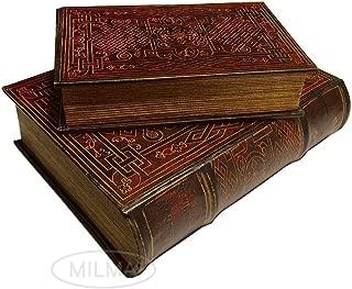Celtic Eternal Knot Secret Book Box Set of 2 Hidden Storage Jewelry Box Set