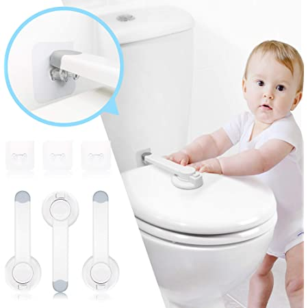 Toilet Seat Lock Child Safety(3 Pack),Upgraded Gapless Baby Toilet seat Lock for Safety with Strong 3M Adhesive,Fit for Most Toilet Lid,Easy Installation with No Damage to Toilet.