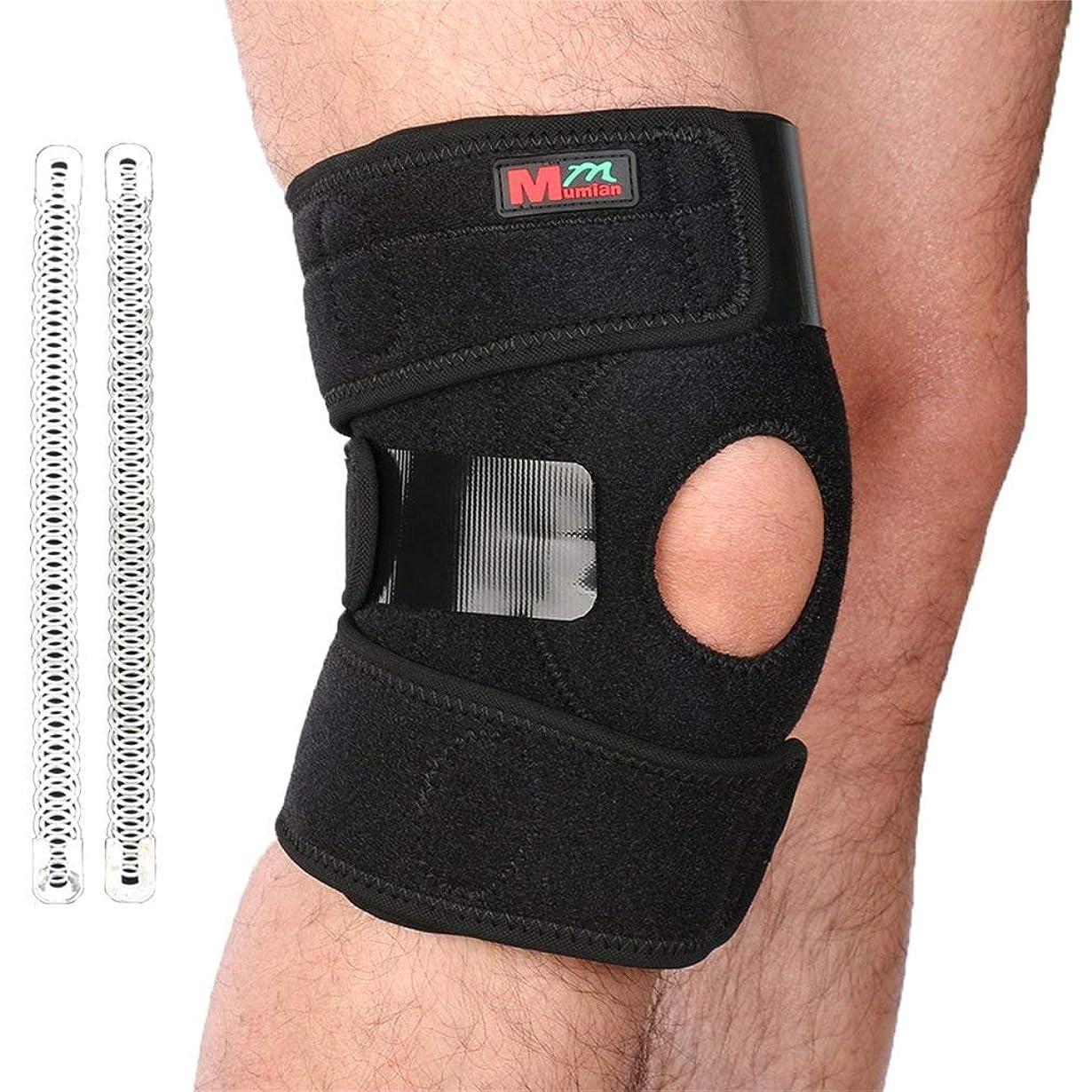 役に立たない踏み台ビルダー1PC膝プロテクター膝パッドシリコン弾性包帯デザイン膝サポート-Rustle666