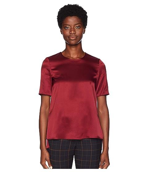 Adam Lippes Silk Charmeuse Short Sleeve T-Shirt
