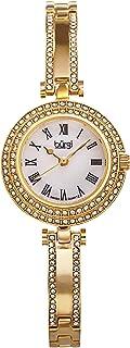 Burgi Women's Luxury Swiss Quartz Watch with Stainless Steel Bracelet