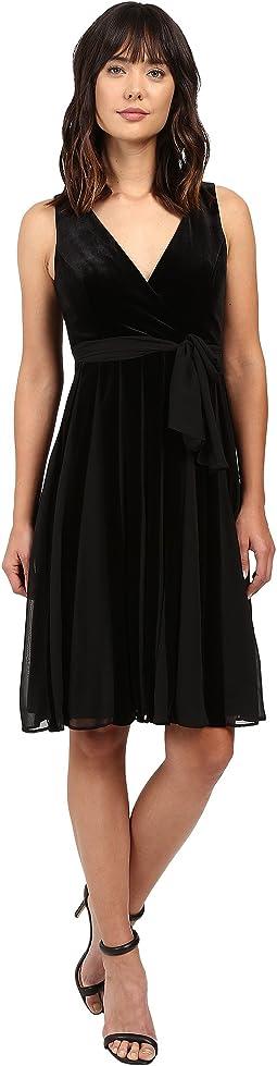 Surplus Midi Velvet Spliced Carwash Dress