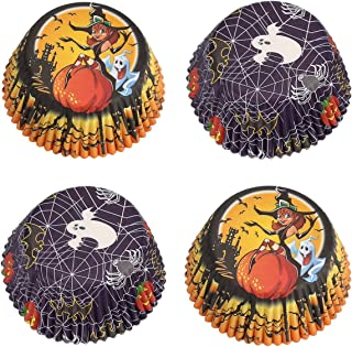 Gifbera Halloween Standard Cupcake Liners Ghost and Witch Paper Baking Cups, 100-Count