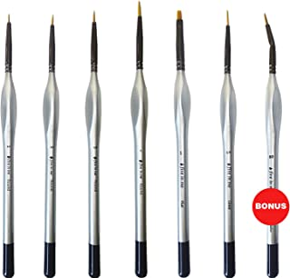 Miniature Paint Brush Set 6 pcs + 1 Free - Best Find Detail Paint Brushes Model Paint Brush Set - Small Tiny Oil Watercolor Acrylic Brushes Hobby Art Supplies