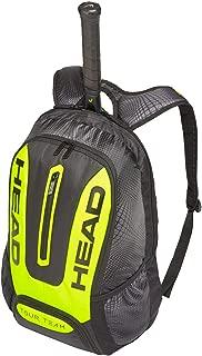 Mochila Unisex para Raqueta de Tenis, Talla única, Color Negro y Amarillo