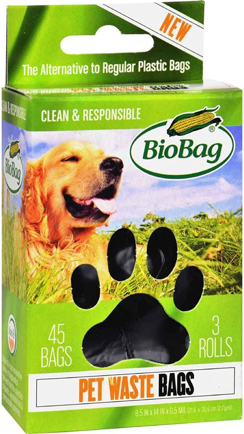 BioBag Dog   Pet Waste Bags on a Roll 45 Bags Each Box (Case of 12) Total 540 Bags