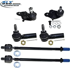 DLZ 6 Pcs Front Suspension Kit-2 Lower Ball Joint 2 Inner 2 Outer Tie Rod End Compatible with 1989 1990 1991 1992 Geo Prizm 1988 1989 1990 1991 1992 Toyota Corolla K9523 K9525 ES2382 EV240