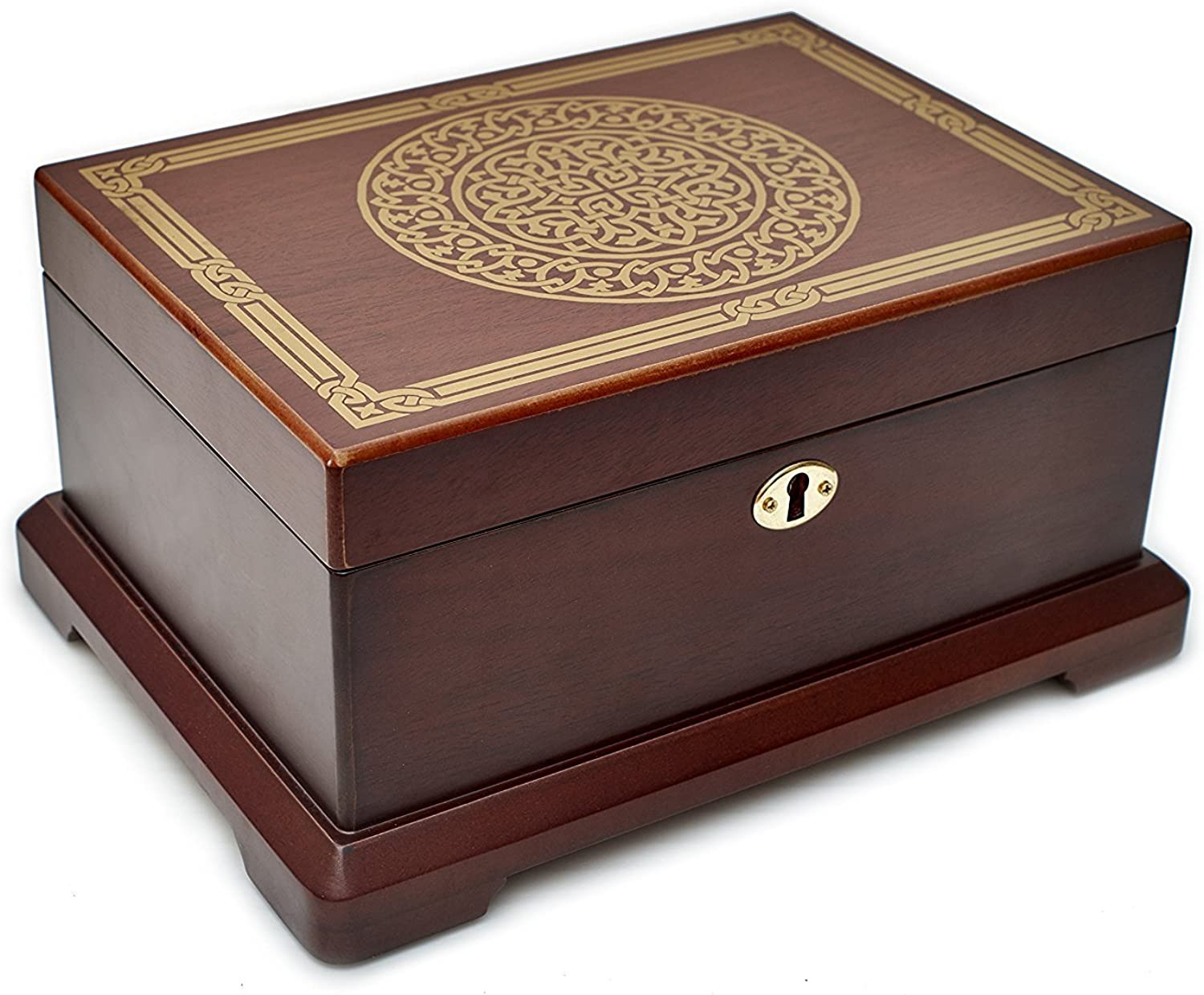 Le Grande Jewelry Box   Unique, High End Antique Wooden Jewelry Case  Holder  Organizer Impeccable Traditional Vintage Design  Ideal Jewelry Storage Container