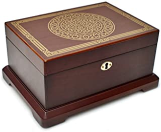 (Brown) - Le Grande Jewellery Box Unique, High End Antique Wooden Jewellery Case/ Holder/ Organiser Impeccable Traditional...