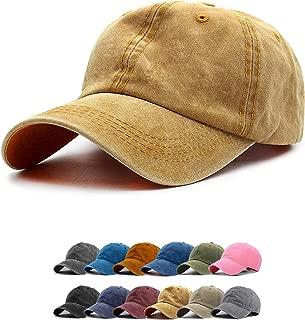 Vintage Baseball Cap 100% Washed Twill Soft Cotton Adjustable Unisex Dad-Hat