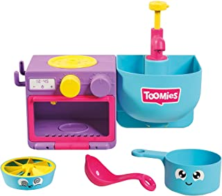Toomies E73264 Bubble & Bake Bathtime, Baby, Bath Toddlers, Kitchen Themed Bubble Making Toy, 2 in 1 Set, Kids Water Play ...