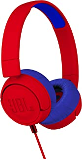 JBL JR300 Kids On-Ear Headphones, Red