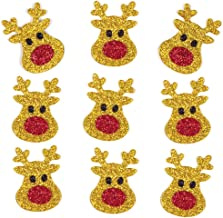 Baker Ross Reindeer Stickers Christmas Glitter Stickers (Pack of 100)