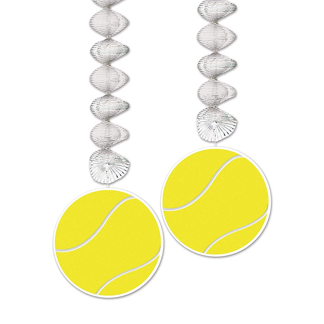 Beistle 54737 Tennis Ball Danglers (2 Pack), 30